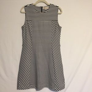 MK Striped Fit and Flair Dress